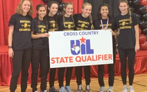 Jewel Baer, Erika Couch, Ava Timmons, Brooke Latham, Tristyn Bentley, Cammie Mitchell, Courtney Latham Pose with thier state qualifier poster