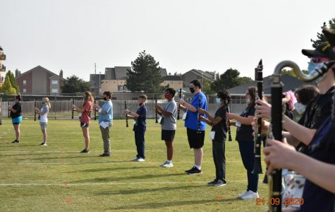 Clarinets start to learn this year's program in masks.